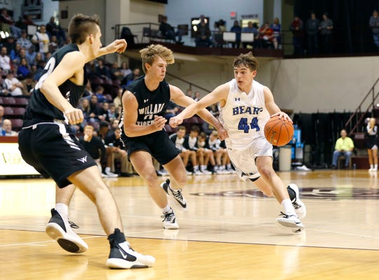 The Willard Tigers take on the Ava Bears in the first round of the Blue Division of the Blue and Gold Tournament at Hammons Student Center on Thursday, Dec. 26, 2019.
