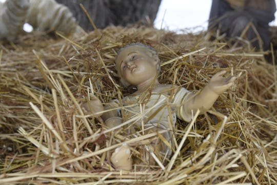The antique baby Jesus statue stolen in December 2018 was returned to its manger Thursday, Dec. 26, 2019 by an unknown person.