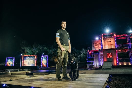 "Leon County Sheriff's Office K-9 teams of Casey Skelton and Maverick compete on the premiere episode of ""America's Top Dog"" on A&E."