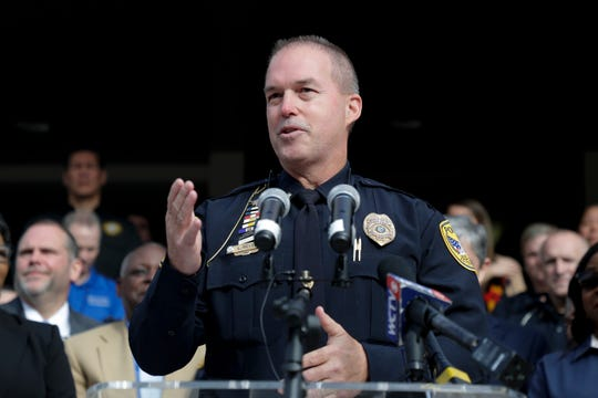 Tallahassee Police Chief Lawrence Revell speaks at a news conference where he was announced as the new chief Thursday, Dec. 26, 2019.