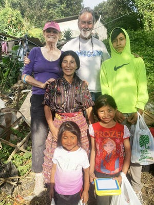 Tom Powell and Jeannie Becker-Powell traveled to Guatemala with Solomon's Porch to help work on the home of Florinda Quino.