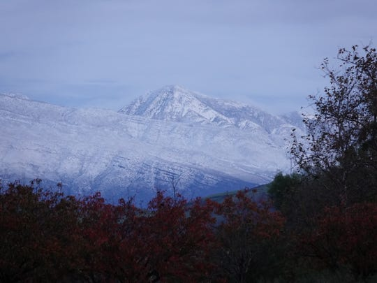 On the day after Christmas, snow blanketing Ventura County mountains was visible from Camarillo and elsewhere after a cold storm swept in overnight.