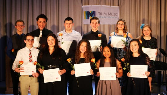 New members ofMillville High School's Chapter #6925 of the National Tri-M Music Honor Society were inducted on Dec. 4.