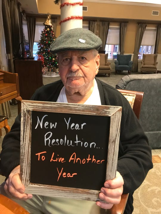 Raymond D. of Five Star senior Living shared his New Year's resolution.
