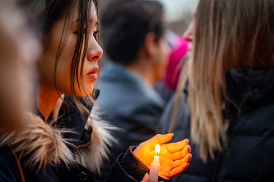 Hundreds attended a candlelight vigil held for a murdered Barnard College student Tessa Majors on December 15, 2019 in New York City.