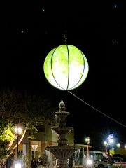 Yuma, Arizona drops a ball that looks like a head of iceberg lettuce on New Years Eve.