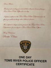 Mason's Christmas wish was to be a Toms River cop for a day, and some amazing police officers made it happen.