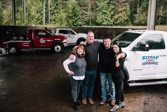 As of Jan. 1, 2020, Chico and Kitsap Towing are merging, as Stacey Tucker, far left, steps back from her family business.