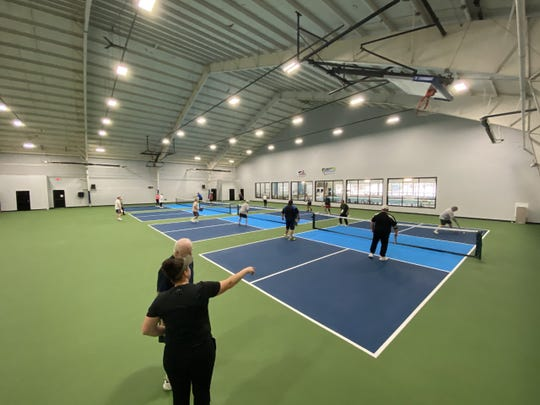 Pickleball players now have professional indoor courts at the Edge in South Burlington. December 2019