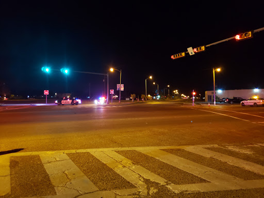 A female pedestrian died after being struck by a vehicle Thursday night near O'Reilly's in Aransas Pass.