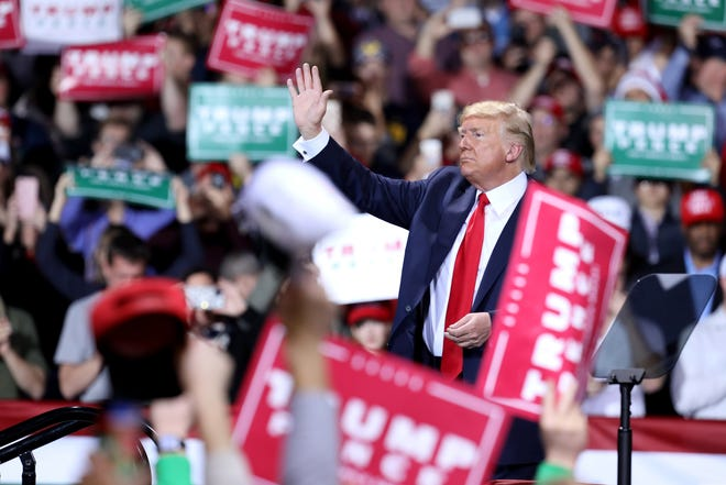 President Donald Trump will host a rally in Milwaukee on Jan. 14.