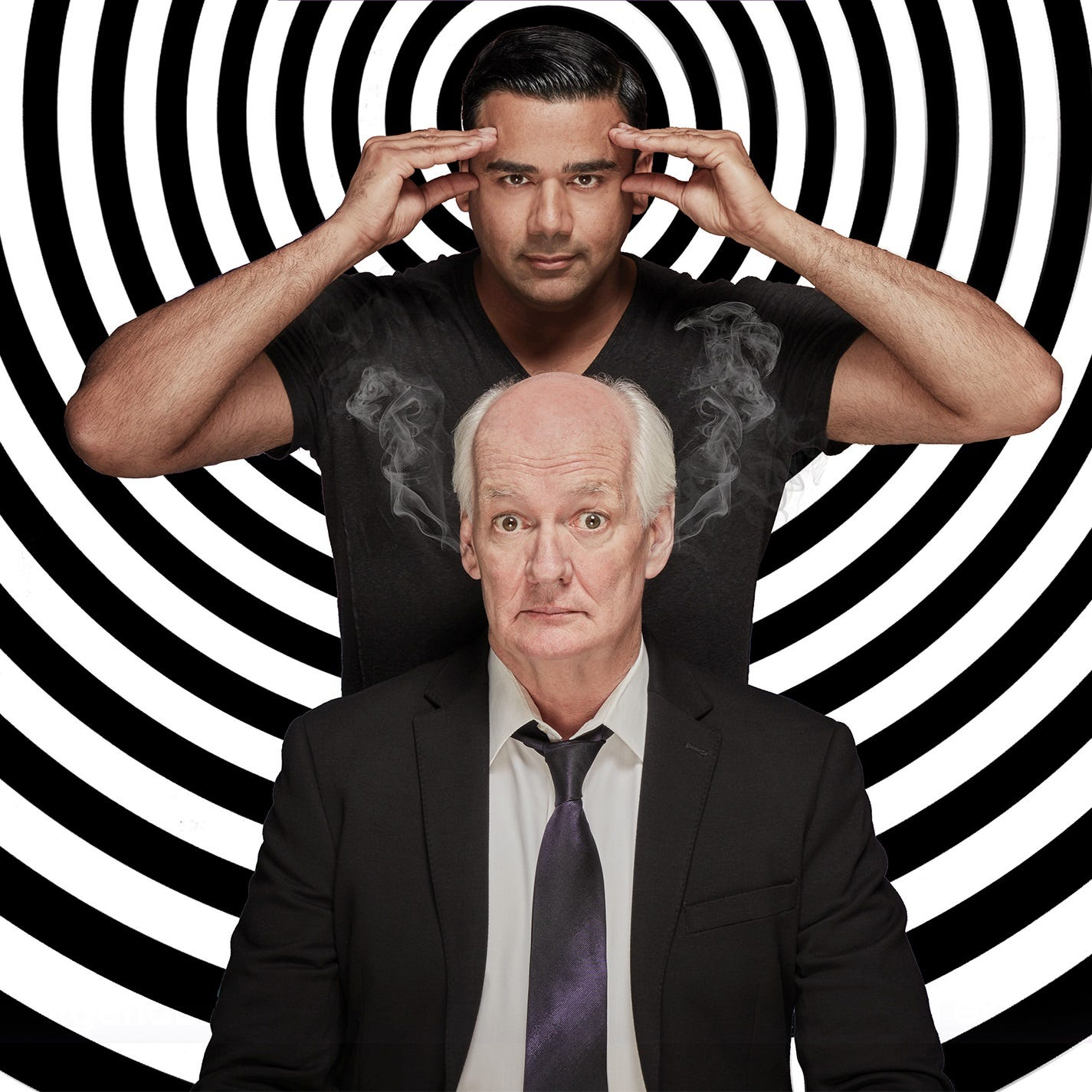 """Colin Mochrie, front, and Asad Mecci of """"Hyprov."""""""