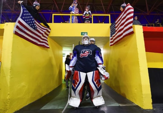 Milford goalie Amanda Thiele made 20 saves to shut out Russia 1-0 at the world junior championship in Bratislava.