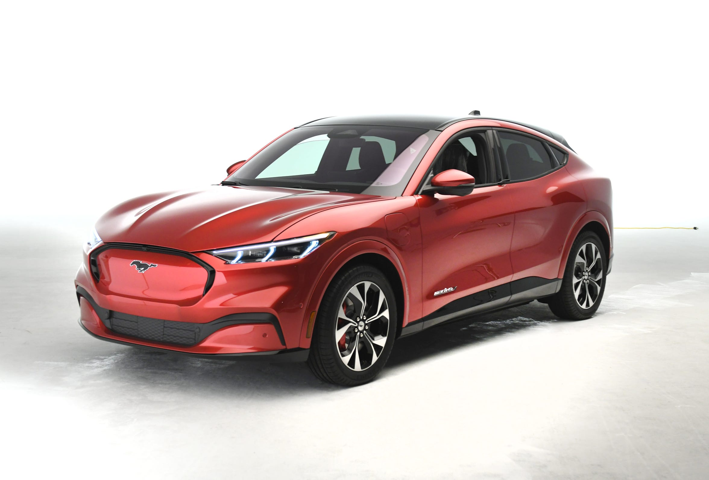 The Ford Mach E4x is the newest electric SUV based on the Ford Mustang as seen on Tuesday, October 29, 2019.