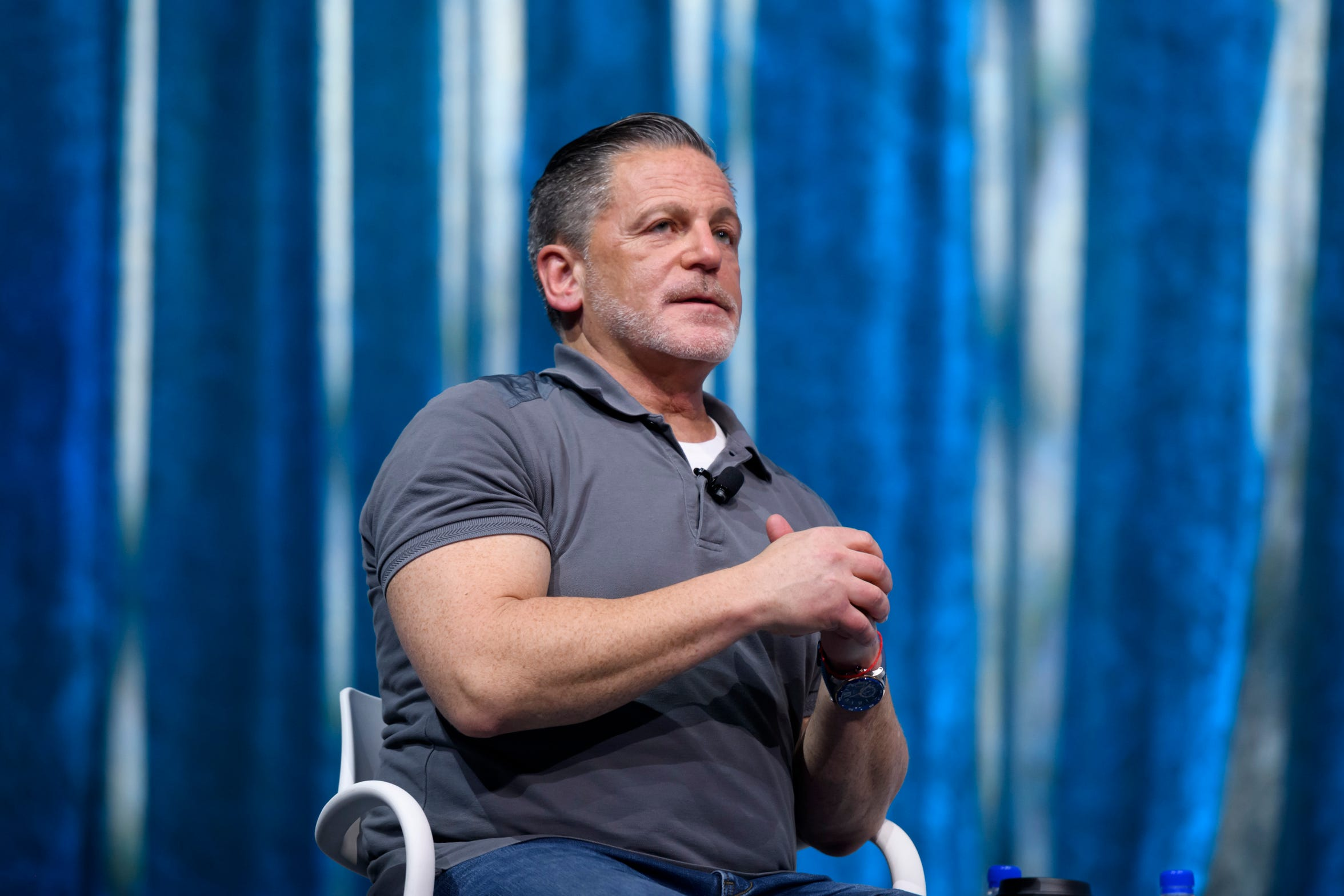 Billionaire businessman Dan Gilbert speaks during the Quicken Loans Detroit Demo Day at the Detroit Music Hall, in Detroit, June 22, 2018. The cofounder of Quicken Loans and owner of the Cleveland Cavaliers suffered a stroke in May and largely hidden from public view since.