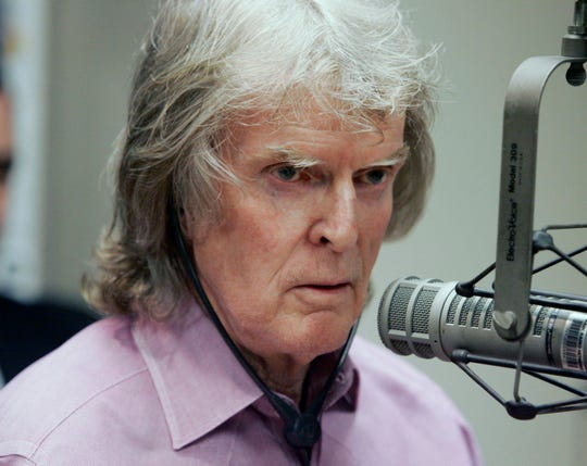 FILE - In this April 9, 2007 file photo, Radio personality Don Imus appears on Rev. Al Sharpton's radio show in New York.