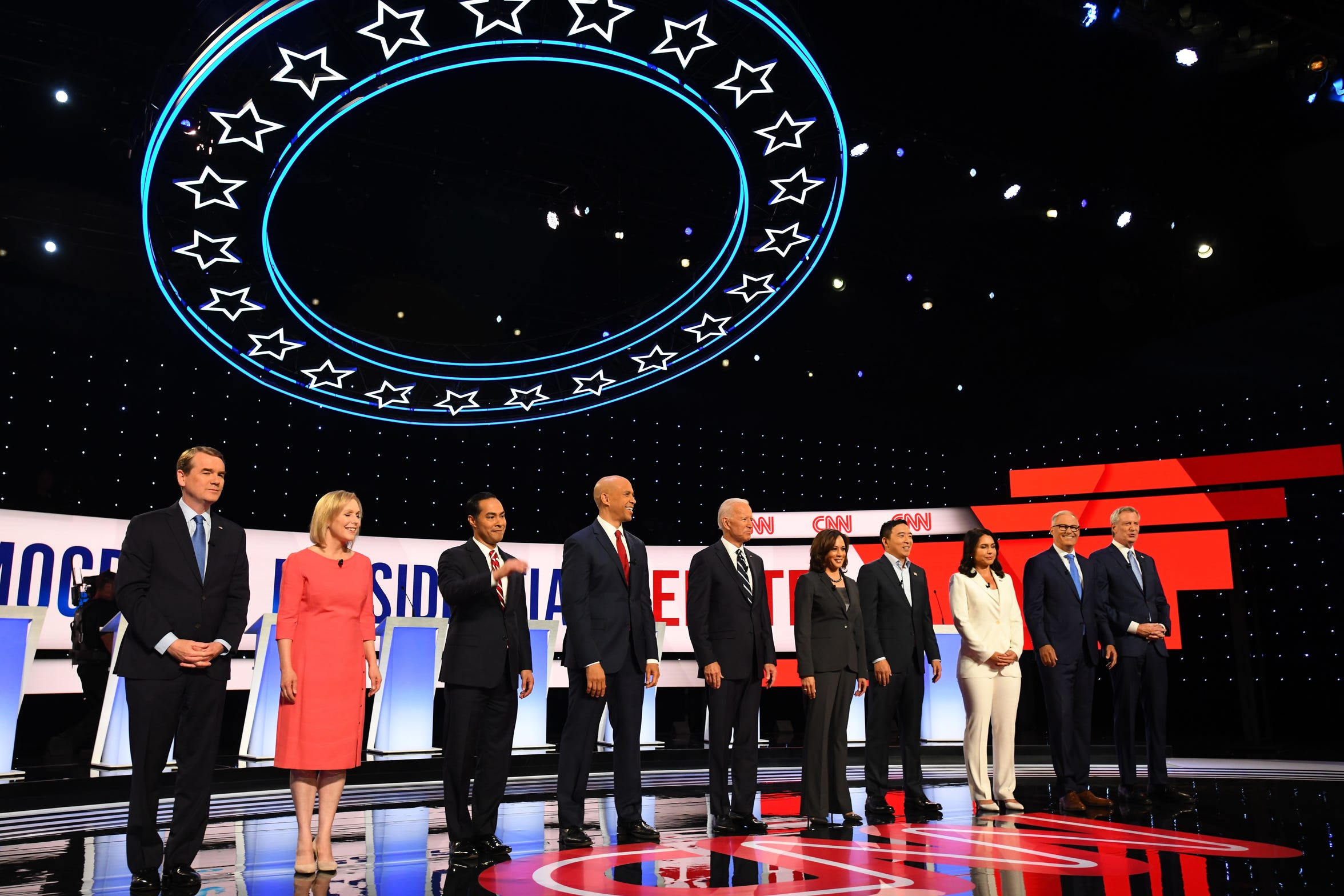 Detroit hosted two Democratic debates at the Fox Theatre in July.