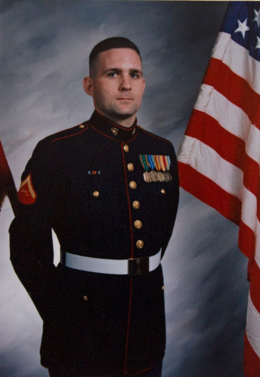 Paul Whelan in his Marine dress uniform.