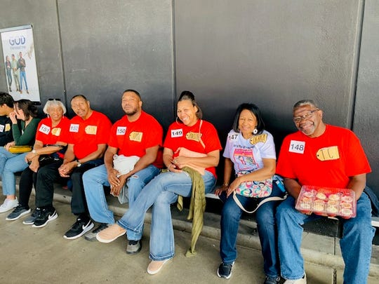 """Debra Hagood, second from right, attended """"The Price is Right"""" with several friends from the Upstate as well as her granddaughter Alia Little."""