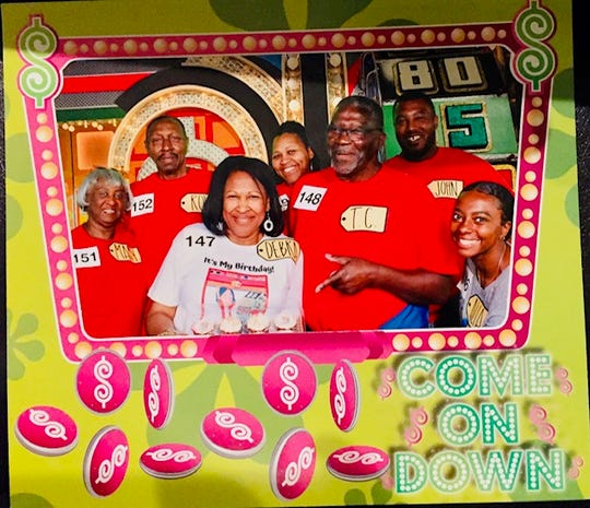 """Alia Little, far right, won more than $10,000 in prizes on The Price is Right show when she was selected to """"come on down!"""""""