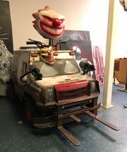 Collin Royster modified a Fischer-Price Power Wheel into the dingy ice cream truck-turned-battle wagon that the evil clown Sweet Tooth drives in the Twisted Metal videogame series. Royster also souped up the sleepy children's toy with a 36-volt motor that he said can propel the vehicle at up to 30 miles per hour.