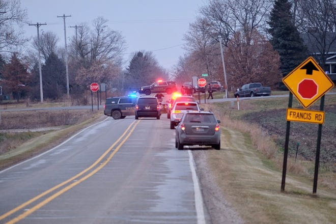 Two people were killed in a crash at Clark and Francis roads on Dec. 27, 2019.
