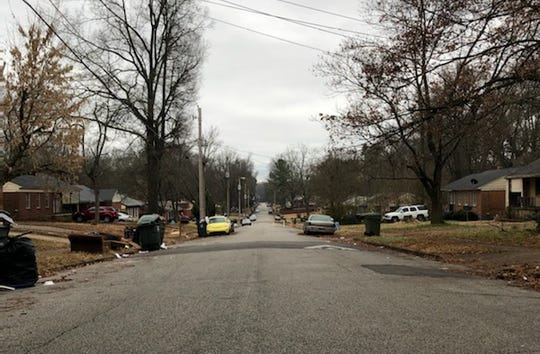 The 3600 block of Hallbrook near Corning Avenue where Antonio Smith Jr. was shot and killed by Memphis Police Department officers on Thursday, Dec. 26, 2019.