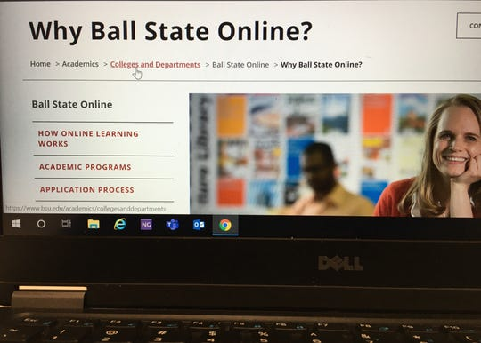The number of graduate students taking fully online courses at Ball State University has increased from 1,611 to 2,751 in the past four years.