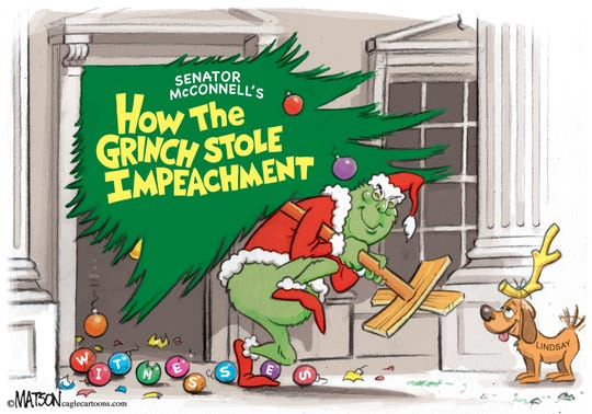 Grinch steals impeachment.