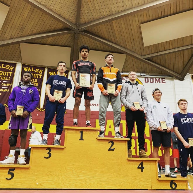 Brennan Van Hoecke of Palmetto Ridge placed sixth in the 120-pound division at the Walsh Jesuit Ironman Invitational in Ohio on Dec. 19, 2019.