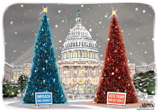 Christmas trees in D.C.