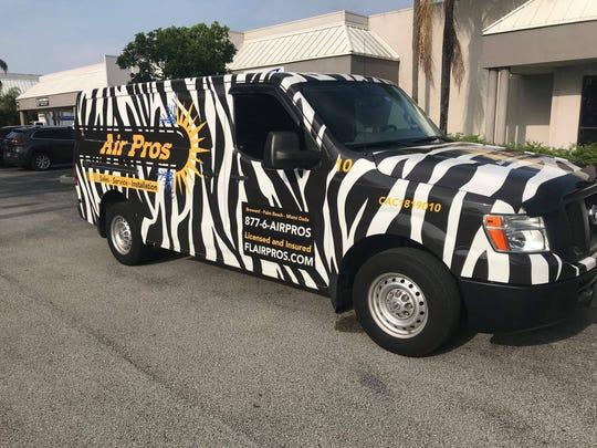 Photo of Air Pros van.