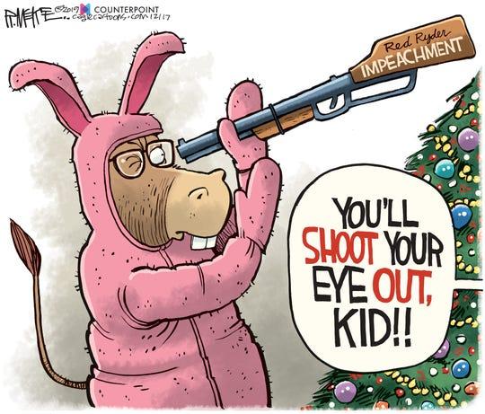 Impeachment rifle gift.