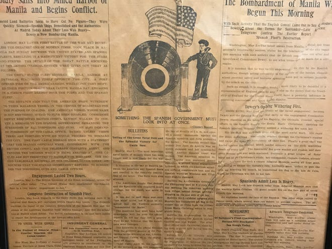 The Advocate from May 2,1898 reporting on the start of the Spanish-American War.