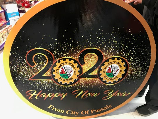 Four feet in diameter, the drum or center of the Passaic 2020 pinata will hold confetti that will be released on New Year's Eve.