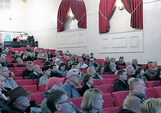 An estimated 200 Northville residents attended a Citizens For Northville meeting at the Marquis Theater in November.
