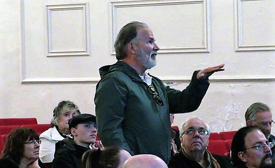 A Northville resident makes a point at the Citizens For Northville meeting in November.