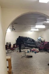 A car crashed into a tribal hall on Torres-Martinez Desert Indians Reservation land during a funeral service on Thursday, Dec. 26, 2019 in Thermal, Calif.