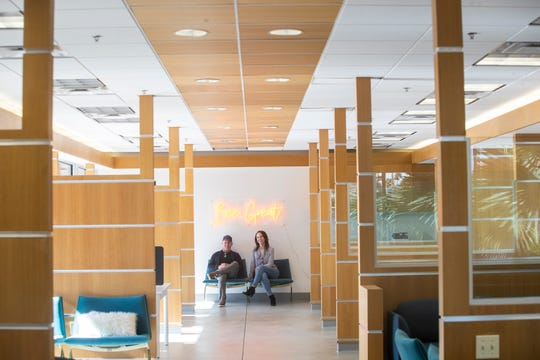 Melissa Cronin and Mark Anderson, co-owners of The Hive, a co-working space in Palm Springs.