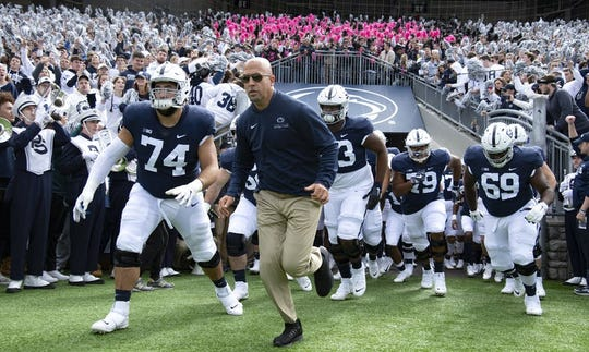 James Franklin's Penn State teams have finished in the top 12 of the final College Football Playoff rankings in each of the past four years.