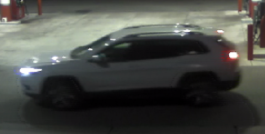 A photo of the vehicle believed to have been used in a recent convenience store robbery in Sparks.