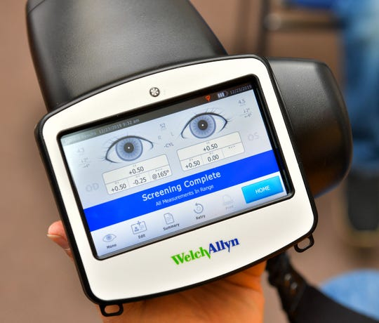 More than 500 Yerington children have had their eyes scanned for potential vision issues thanks to a digital screening device purchased and operated by the Yerington Lions Club. About 25% of the children were identified as needing follow up care with an eye doctor.