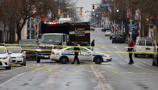 The RPD command unit arrives on the scene of a fatal shooting at Lyell and Plymouth avenues.