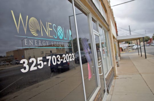 Wone Solar is a new West Texas energy company located at 28 N. Chadbourne St. as seen in this Friday, Dec. 27, 2019 photo.