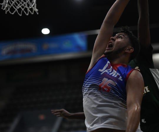 San Felipe center Sebastian Rosado puts up a shot during the Governor's Challenge on Friday, Dec. 27, 2019.