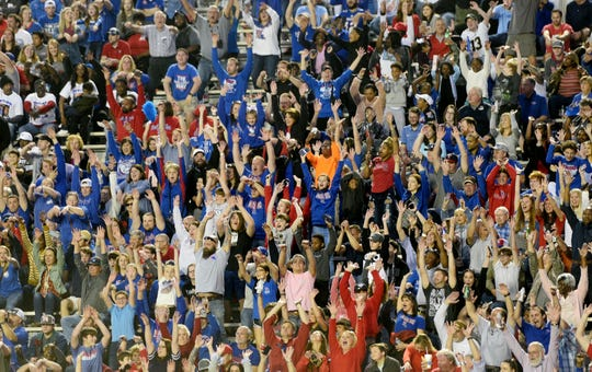 Fans do the wave during the 2019 Walk-On's Independence Bowl Thursday evening, December 26 at Independence Stadium in Shreveport, Louisiana.