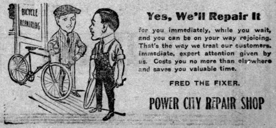 The image is from a 1915 ad run by Fred in the Argus Leader. Fred regularly advertised from the beginning.