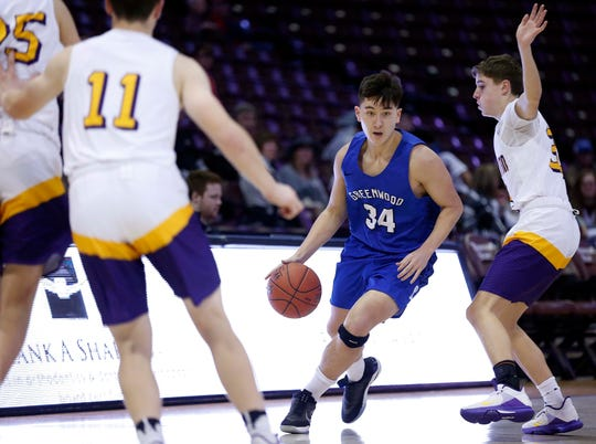 Camdenton takes on Greenwood during Blue and Gold Tournament action at JQH Arena on December 26, 2019.