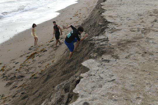 Even with erosion, Fort Pierce Beach is still a popular spot with local and tourists for shell collecting, kite surfing, site seeing, and relaxing on Friday, Dec. 27, 2019.