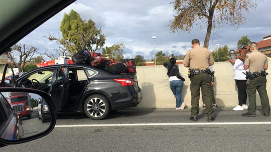 This vehicle was stopped along northbound Highway 101 near the Carmen Drive exit in Camarillo around 1 p.m. Thursday.